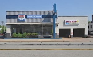 The Bosch Car Service imaging program helps Baum Boulevard Automotive project a clean, contemporary look