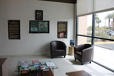 franks european service waiting room