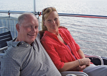 the sellers: jim and kimberly hermansader in well-deserved relaxation mode in the summer of 2012 after selling the automotive aftermarket business owned and operated by the family since 1969.